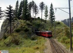 """Die ABe 513 fährt Richtung Thusis, gestellte """"Eröffnungsfahrt"""" vom 6.3.2011"""