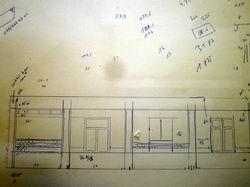 Ein grober Plan für jede Seite des Gebäudes wird erstellt.