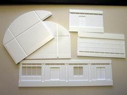 Die ersten Polystorolteile für dieses Gebäude wurden nun gefräst. Die Gebäude Grundmasse konnte ich dem Plan der RhB entnehmen, umgerechnet ist es 25 * 15 cm gross.