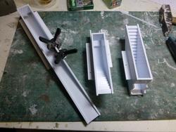 Die Unterführungen wurden per CNC gefertigt. Nach Grundierung konnten diese mit Betonfarbe bemalt werden.