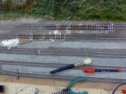 ...und alsbald die Lücke mit neuen Gleisen geschlossen.