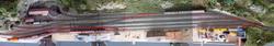 Eine Übersicht auf die bevorstehenden Anpassungen im Bahnhof Filisur. Gleis 3 verschwindet beinahe ganz - ich werde den rechten Teil als