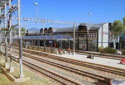 Das erste Bild vom fast fertigen Bahnhof Thusis!