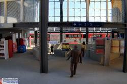 Im inneren des Bahnhofs Thusis mussten zahlreiche Details gefertigt werden. Nicht ganz ohne war die runde Unterführung mit innenliegender Treppe.
