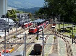 Sicht vom Güterbahnhof zur Empfangshalle Thusis