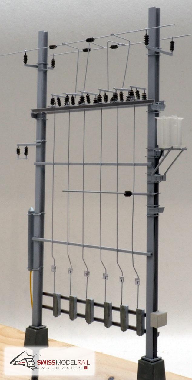 Ein fertiges Modell vom Schaltposten Bausatz (enthält alle abgebildeten Teile). Diese Ausführung ist sehr oft anzutreffen - für Muot kann ich beinahe das Modell übernehmen.
