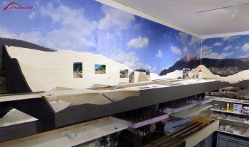 Die Station Bergün wird zum Zeitpunkt vor der Modernisierung augestaltet
